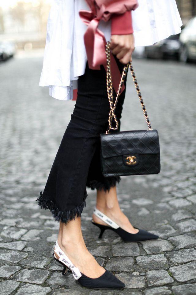 8bc3c5410c8c23 Christian Dior J'ADIOR Slingback + Chanel flap bag - Street Style -