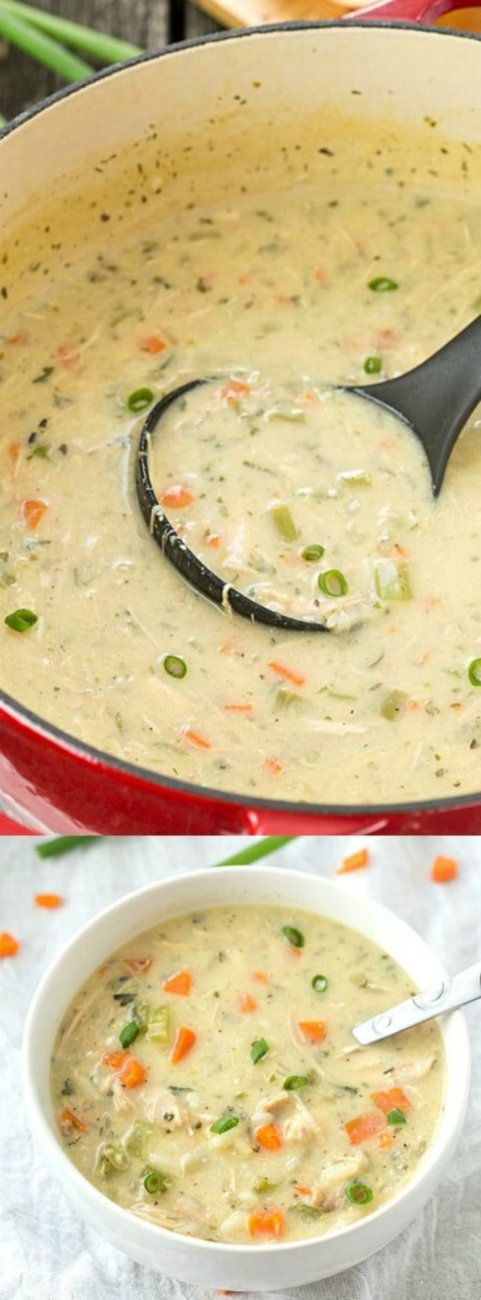 This Copycat Panera Chicken and Wild Rice Soup from Gal on a Mission is seriously the best soup EVER! It's creamy, flavorful, filling and uses simple ingredients that you probably already have in your kitchen.