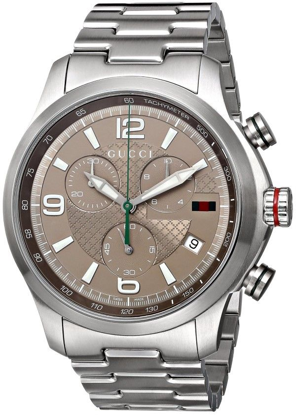 "Men watches : Gucci Men's YA126248 ""Gucci G-Timeless"" Stainless Steel Watch"