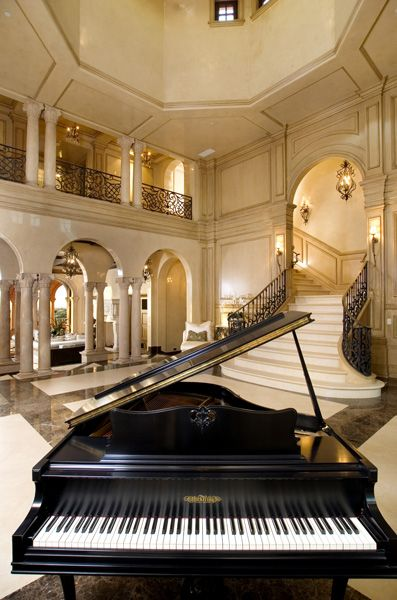 I'm only pinning this one, because it has a Grand Piano in it. It definitely makes the room more beautiful and elegant.