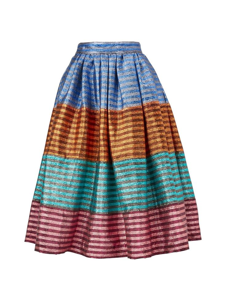 HOUSE OF HOLLAND Tequila Stripe Skirt - Multicolour | veryexclusive.co.uk