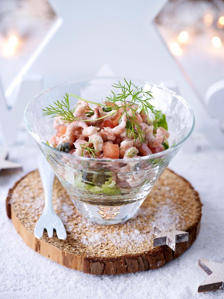 garnalen cocktail in een glaasje