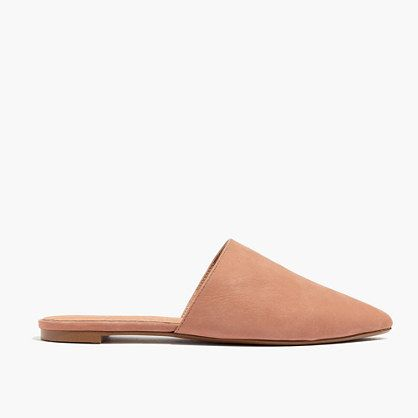 """An easy leather slip-on style (aka dressing room friendly) with a sleek pointed toe. Safe to say this one does day-to-night (and even office) duty. When you select your size, """"H"""" equals a half size. <ul><li>Nubuck leather upper.</li><li>Leather lining.</li><li>Man-made sole.</li><li>Import.</li></ul>"""