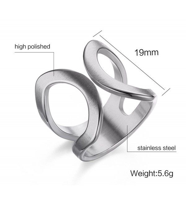 Stainless Steel Cuff Ring For Women Engagement Promise Engagement Marriage Stainless Steel Cm12el80r7t Wedding Rings For Women Wedding Rings Engagement Trendy Wedding