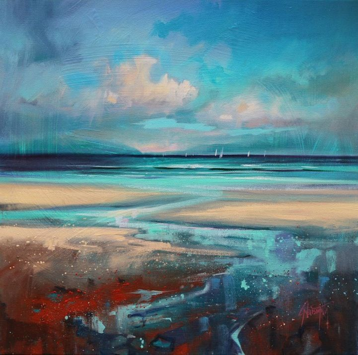Scott Naismith-Colorful Reinterpretations of Cloudy Scottish Landscapes - My Modern Metropolis