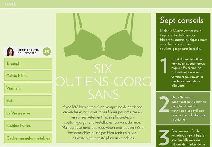 Six soutiens-gorge sans bretelles - La Presse+