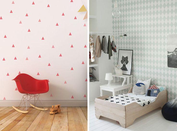 Motivos geométricos para decorar las paredes