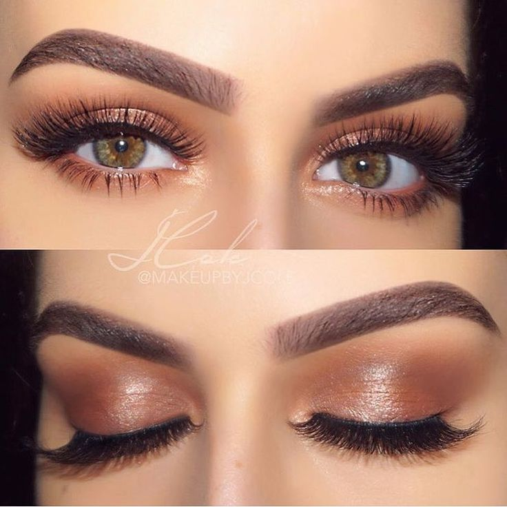 Neutral bronze eye makeup. Jenny Cole on IG #makeup #eyemakeup #bronzemakeup #ne…