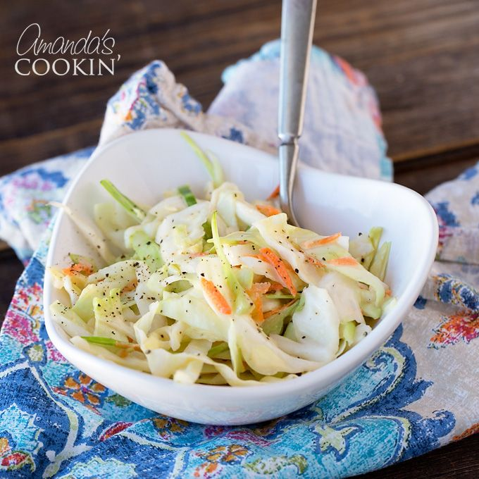 This KFC coleslaw copycat recipe is delicious! You won't be able to tell the difference. This coleslaw is the perfect gathering or potluck dish!