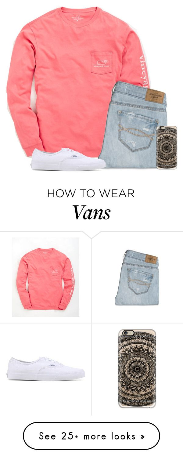 """Back at again with the white vans"" by jepple15 on Polyvore featuring Vineyard Vines, Abercrombie & Fitch, Casetify and Vans"