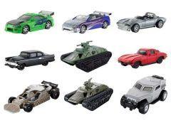 人気カーアクション映画のワイルドスピードに登場する名車たちのダイキャストカーが発売されました クラシックカーから戦車に至るまで多種多彩 シングルパック1台が756円3パックアソートは2268円となっています ワイルドスピードファンはぜひチェックを