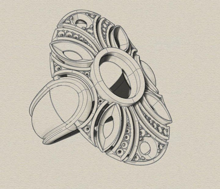 Jewelry Ring sketch.Aurélien Allier Bijouterie