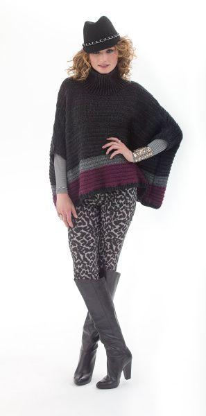 Portland Poncho -- free pattern