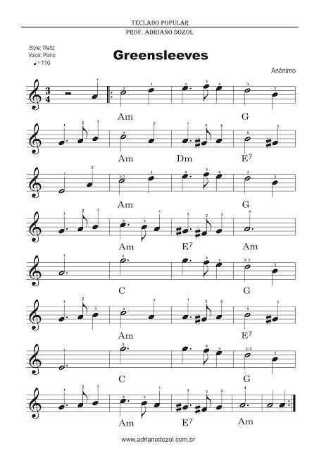 Adriano Dozol - Dicas, Partituras Grátis e Vídeos - Teclado   Piano…