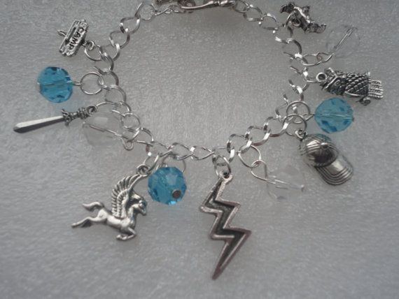PERCY JACKSON CHARM BRACELET!!! I want this for Christmas of my birthday.