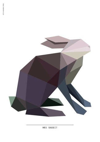 Mrs Rabbit Poster by Ditte Maigaard who runs the Ditte Maigaard Studio, Store and Online Shop