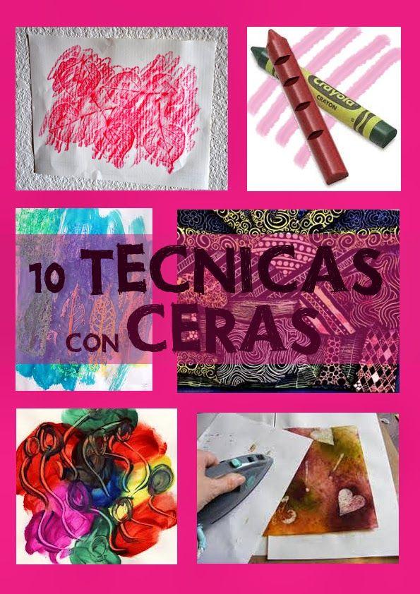 Diez técnicas para pintar con ceras blandas y duras I - Aprender es un juego