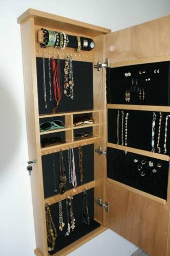 Vanity Closet Organizador De Accesorios Espejo Y Alhajero