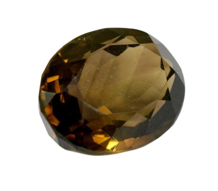 38ct Rare Natural Smokey Quartz Oval Shape Faceted Loose Gemstone on ebay