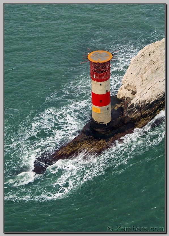 The Needles Lighthouse, Isle of Wight, England.