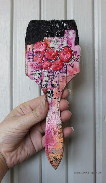 Riikka Kovasin - Paperiliitin: Gel medium brush - Craft Stamper