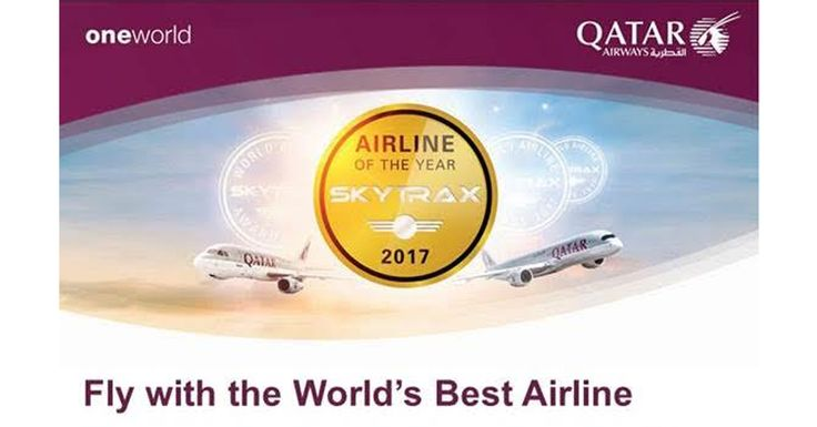 To celebrate its outstanding achievement at the recent 2017 Skytrax Airline of the Year Award, the world's youngest fleet, Qatar Airways is delighted to offer a chance for all passengers to experience amazing service with an amazing offer.