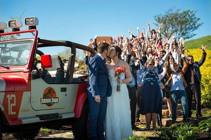 Spared no expense for our big day! �� #wedding #geek #weddingparty #jeep #celebration #bride #groom #jurassicpark #happy #happiness #unforgettable #love #forever #weddingdress #weddinggown #geekwedding #family #kiss #together #ceremony #romance #marriage #weddingday #flowers #celebrate #instawed #instawedding #party #congrats #congratulations http://gelinshop.com/ipost/1521779165915896370/?code=BUechazAdoy