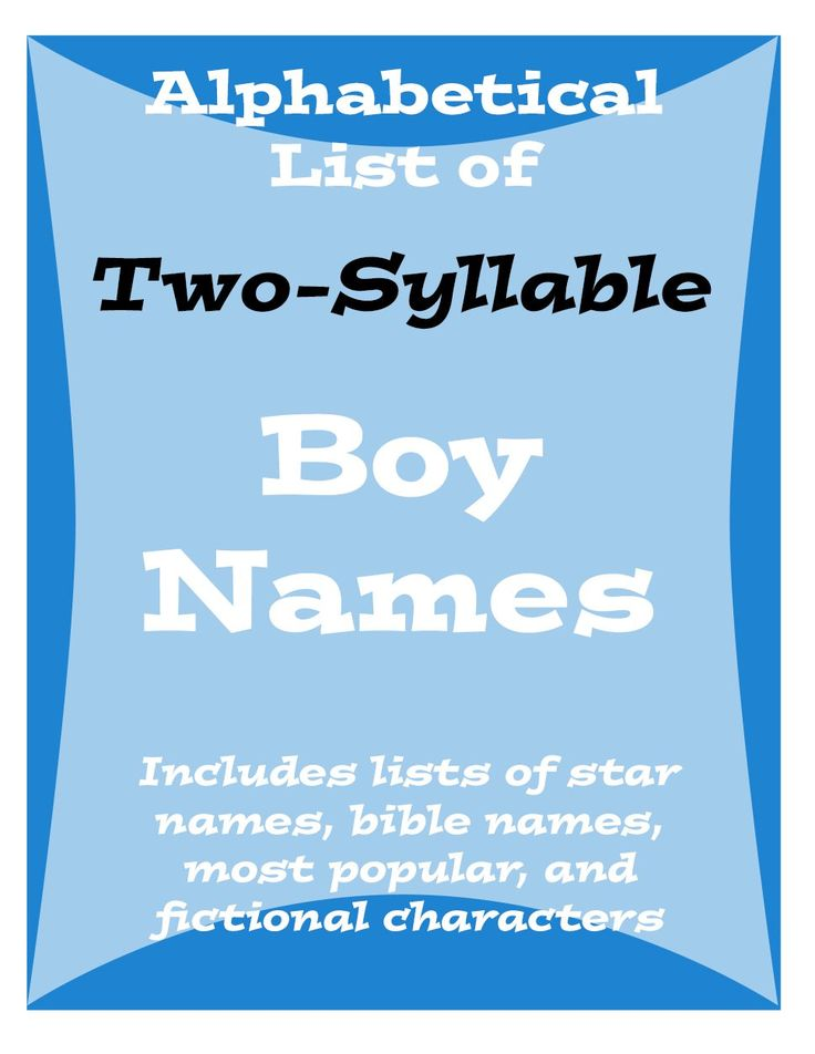 Popular Two-Syllable Names for Baby Boys (With images ...