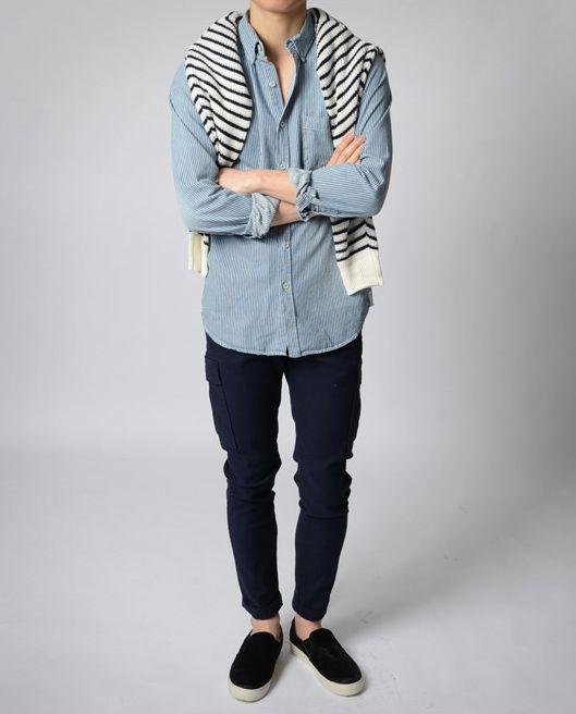 Simple . sunday , jfav , spring , winter , chambray , sweater , black jeans , vans
