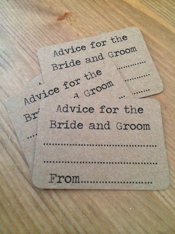 Typewriter style wedding advice cards by HandmadeWithLove001