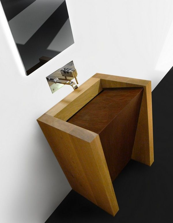 corten is a unique wooden sink with modern taste created from solid oak wood with