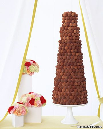 Une pièce-montée en truffes au chocolat