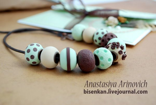 "Polymerclayfimo: Изделия - комплект ""Pistachio, vanilla and chocolate""."