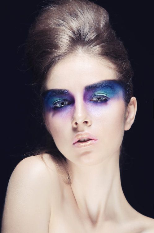 Blue eyeshadow -(the eyes how can also be used to define areas like nose as seen in the picture)