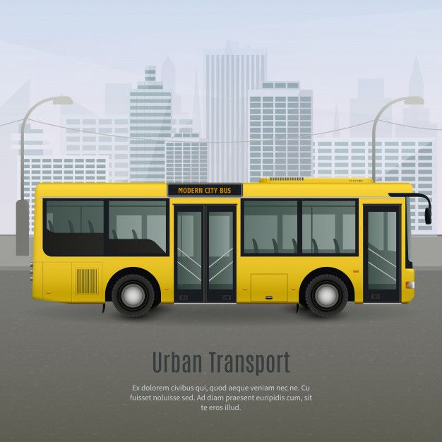 Download Realistic City Bus Illustration For Free Interactive