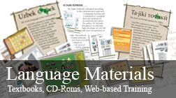 Language Materials | Center for Languages of the Central Asian Region | Pashto, Tjiki, Uzbek, Uyghur, Dari