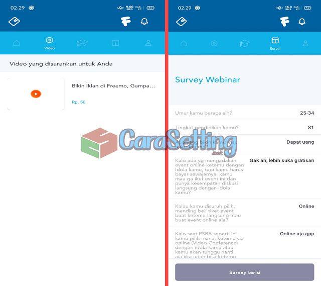 Freemo Aplikasi Penghasil Uang Langsung Ke Rekening Bank Lokal Terbaru Juli 2020 Carasetting Net Aplikasi Uang Rekening Bank