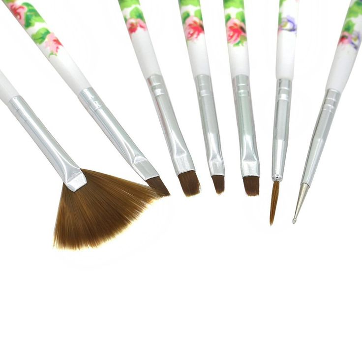 Useful 7 Pcs Nail Art Acrylic UV Gel Design Brush Painting Drawing Pen Tips Tools Kit (White) *** This is an Amazon Affiliate link. Check this awesome product by going to the link at the image.
