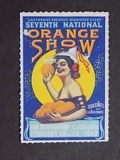 (1) mng US Cinderella 1917 Seventh National Orange Show Poster Stamp San Bernard