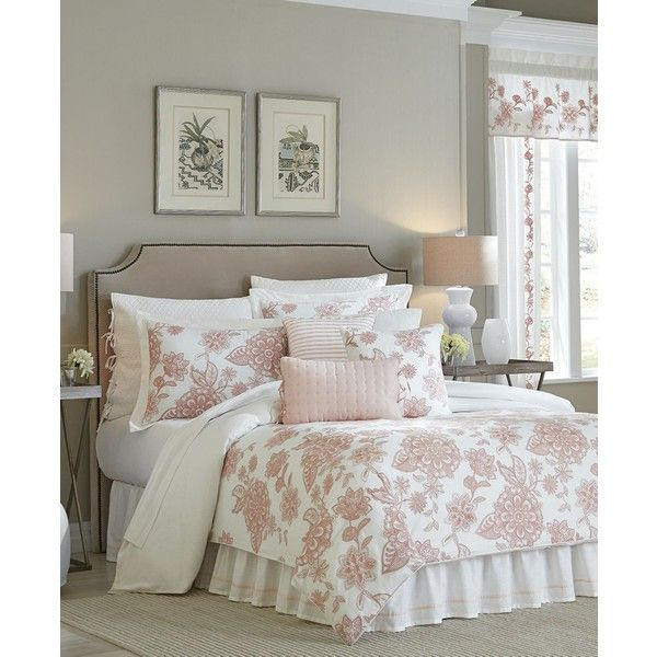 Croscill Fiona King Comforter Set ($300) ❤ liked on Polyvore featuring home, bed & bath, bedding, comforters, blush, blush comforter, king size bedding, king size comforters, blush bedding and king size comforter sets