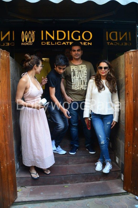 Malaika Arora and Arbaaz Khan spotted post lunch date along with Amrita Arora see pics