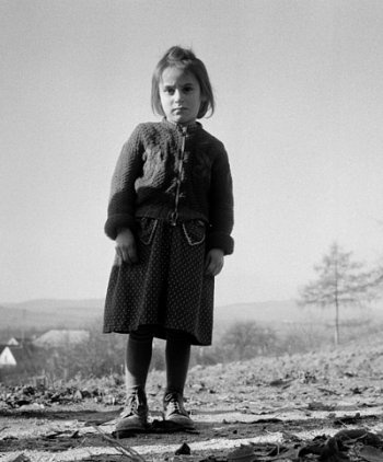 by Ata Kando Hungarian refugees in the border of Austria and Hungary (1956)