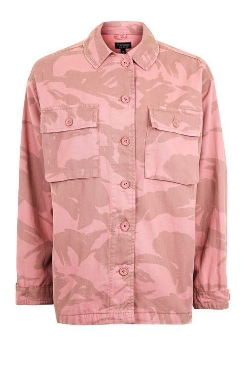 Pink Camouflage Shacket - Jackets & Coats - Clothing - Topshop