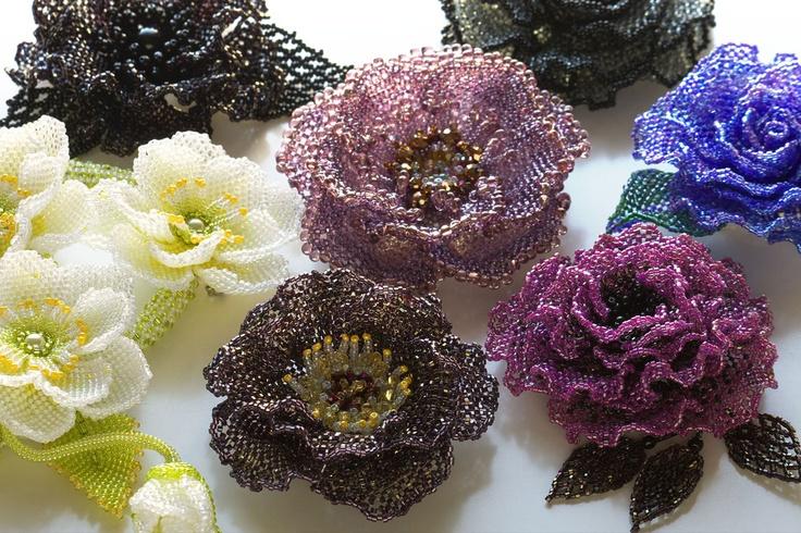 Beautiful Beaded Flowers !