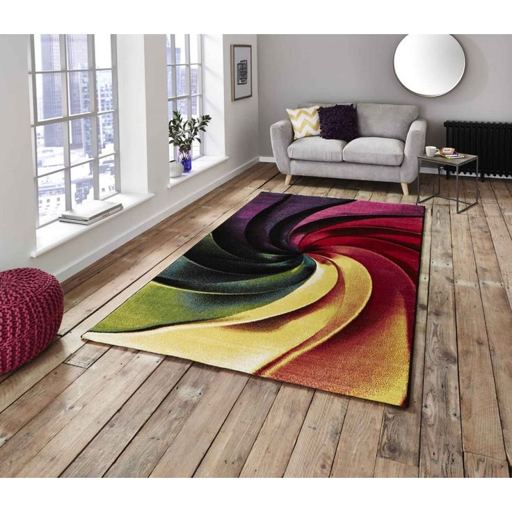 Sunrise Y498A Multi-coloured Designer Rug by Think Rugs Colourful and attractive geometrical design to give your modern room setting a stunning look. #machinemaderugs #abstractrugs #modernrugs #funkyrugs #multicolouredrugs #durablerugs