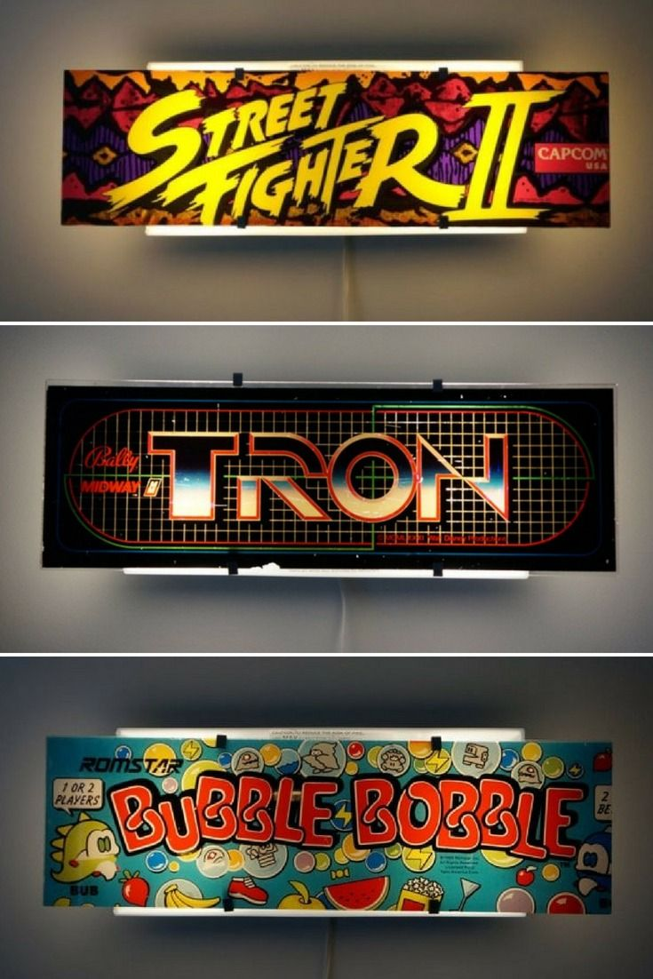 Arcade Video Game Wall Sconce Bedroom Lamps Arcade Room Table