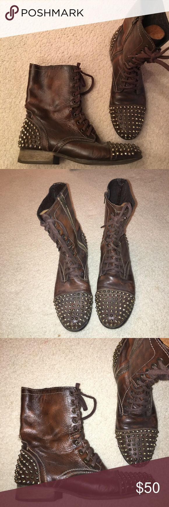 Steve Madden studded combat boots! Excellent condition. None of the studs are missing. Steve Madden Shoes Combat & Moto Boots
