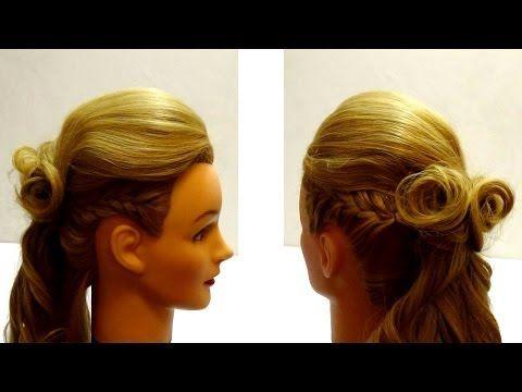 Креативная вечерняя прическа на длинные волосы. Ирокез. Creative evening hairstyle - YouTube