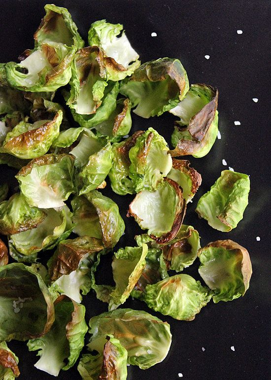 Whip up a batch of crispy veggie chips made from roasted brussels sprouts. In less than 10 minutes, you'll be snacking on a vitamin-rich recipe you'll want to grab by the handful.Calories (for one-fourth the recipe): 50 Photo: Lizzie Fuhr