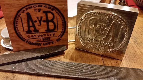 Customized Wood Branding Iron For Your Projects Made In Trenton Ohio Usa Backordered Until 7 2 With Images Wood Branding